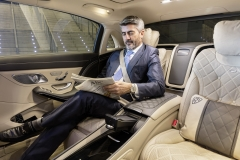 Mercedes-Maybach S 650; 2017; Interieur: seidenbeige/titaniumgrau; First-Class-Fond mit Executive Sitzen;Kraftstoffverbrauch kombiniert: 12,7 l/100 km; CO2-Emissionen kombiniert: 289 g/km*Mercedes-Maybach S 650; 2017; interior: silk beige/titanium grey; First Class Rear with Executive seats;Fuel consumption combined: 12.7 l/100 km; CO2 emissions combined: 289 g/km*