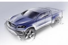 Mercedes-Benz X-Klasse – Designskizze // Mercedes-Benz X-Class – Design sketch