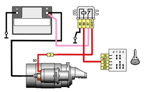 Схема подключения доп реле стартера фото 465