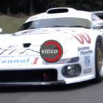 Porsche 911 GT1 Is мчиться как безумный — видео