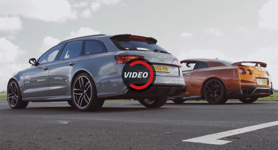 Audi RS6 Уничтожает Nissan GT-R на трассе — видео