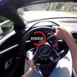 Audi R8 V10 Spyder Driven POV на извилистых дорогах — видео.