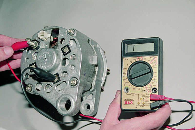 Проверка снятого генератора