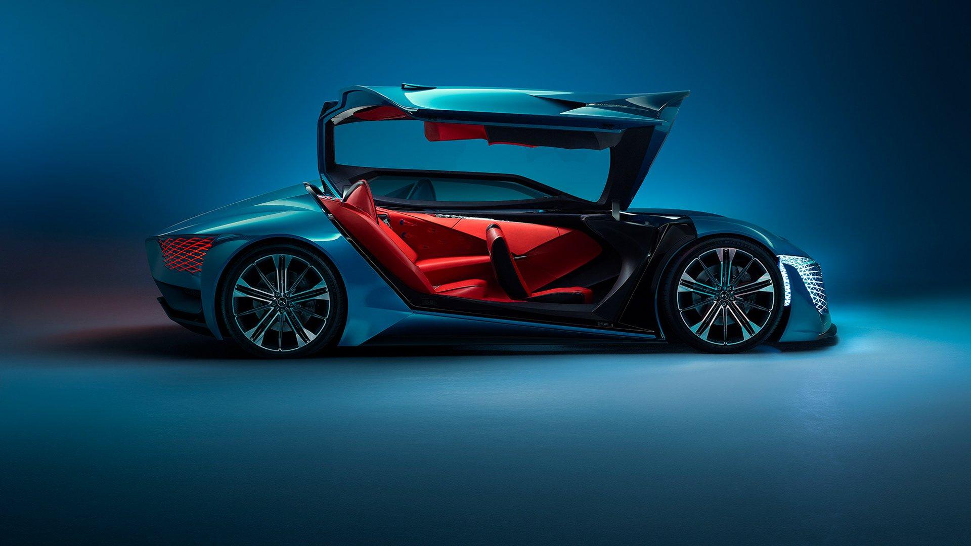 DS-X Concept — футуристический спортивный автомобиль, разделенный на две части