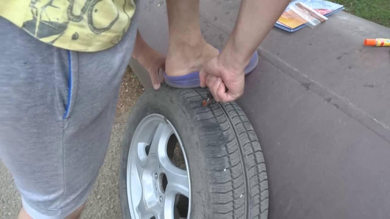 Как произвести самостоятельный ремонт бескамерной шины?