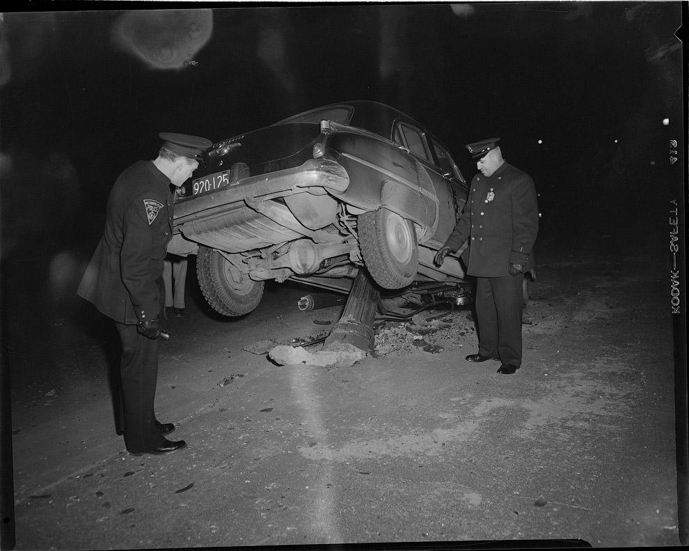 Автомобильные аварии прошлого, произошедших в Америке в 1930—1950 годах
