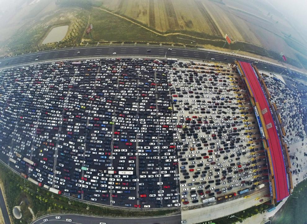 Автомобильные пробки по китайски — это,что то