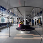 Первый портальный автобус TEB-1из Китая,под которым могут проезжать другие автомобили